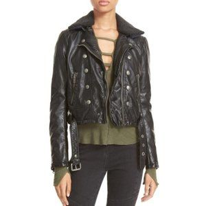 Free People Ashville Faux Leather Biker Jacket